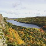 Lake of the Clouds, Porcupine Mountains, Michigan Stock Image