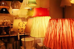 Lamp store light shop indoor lighting Royalty Free Stock Image