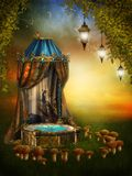lampy czarodziejska scena Obraz Stock