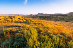 Landscape of bardenas reales natural park Stock Photography