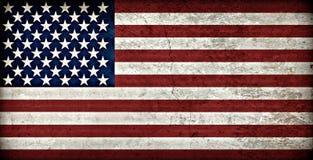 Lantlig amerikanska flaggan Fotografering för Bildbyråer