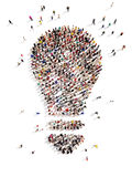 Large group of people with Ideas Royalty Free Stock Photo