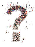 Large group of people with questions Royalty Free Stock Images