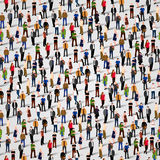 Large group of people. Seamless background Stock Image