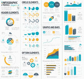 Large infographic vector elements template designe Royalty Free Stock Photo