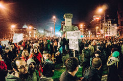 Large protests in Romania Royalty Free Stock Photography