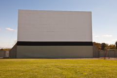 Large vintage outdoor drive-in movie theater - front view Royalty Free Stock Photo