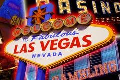 Las Vegas znak Fotografia Royalty Free