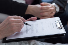 Last will and testament document Stock Photo