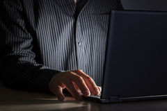 Late night internet addiction or working late Royalty Free Stock Image