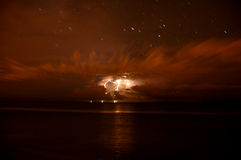 Late night lightning storm Royalty Free Stock Image