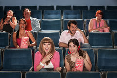 Laughing Audience In Theater Royalty Free Stock Image