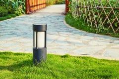 Lawn lamp garden light outdoor landscape lighting Stock Photo