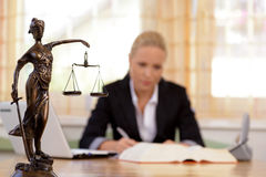 Lawyer in the office Royalty Free Stock Photo