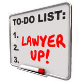 Lawyer Up To Do List Hire Attorney Legal Problem Lawsuit Stock Photos