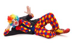 Laying clown Royalty Free Stock Images