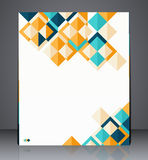 Layout business flyer, magazine cover, or corporate geometric design template advertisment Royalty Free Stock Photography