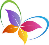 Leaf butterfly logo Stock Images