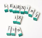Learning is fun Royalty Free Stock Photos