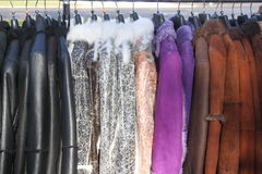 Leather clothes Royalty Free Stock Photos