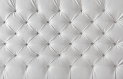 Leather upholstery white texture, pattern background Stock Photography