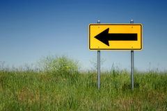 Left turn only Royalty Free Stock Photo
