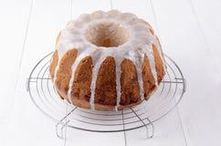 Lemon gugelhupf with icing sugar Royalty Free Stock Images