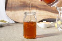 Lemon, Mint Flavour Ice Tea Stock Photos