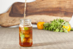 Lemon, Mint Flavour Ice Tea Royalty Free Stock Photography