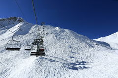 Les Verdons, Winter landscape in the ski resort of La Plagne, France Royalty Free Stock Photography