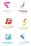 Letter F Logo Stock Photography