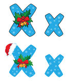 Letter X Xmas Royalty Free Stock Photography