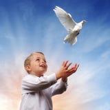 Libertà, pace e spiritualità Immagine Stock