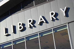 Library Sign Stock Image
