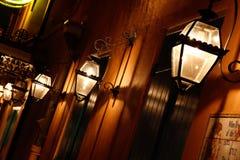 Lichten van het Gas van het Kwart van New Orleans de Franse Royalty-vrije Stock Foto's