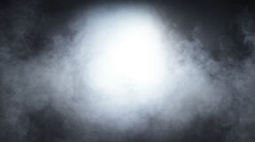 Lichtgrijze rook op een zwarte achtergrond Royalty-vrije Stock Fotografie