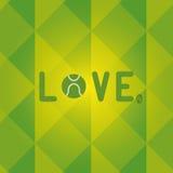 Liebes-Tennis mit null als Zeitraum-Typografie Lizenzfreie Stockfotografie