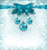 Light background with Christmas traditional elements Stock Photo