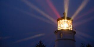 Lighthouse Beams Illumination Into Rain Storm Maritime Nautical Royalty Free Stock Photo