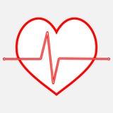 Ligne d'icône de battement de coeur d'impulsion Image libre de droits
