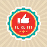 Like Badge Stock Photography