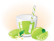 Lime fruit and drink Royalty Free Stock Image