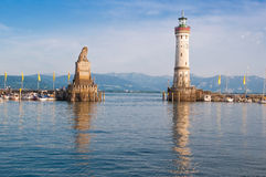 Lindau harbor Stock Images