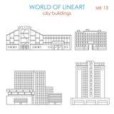 Lineart architecture city modern public municipal building mall Stock Image