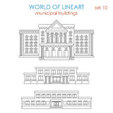 Lineart architecture public municipal building government school Royalty Free Stock Photo