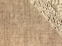Linen with lace Royalty Free Stock Photography