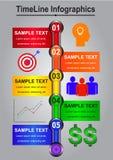 Linii czasu Infographics abstrakt dla biznesu Zdjęcia Stock