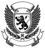 Lion shield Insignia Royalty Free Stock Image