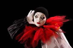 Listening Pierrot Stock Images