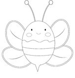 Little bee coloring page Stock Photos